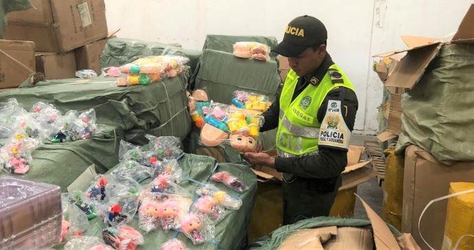 Caen 260 millones de pesos en juguetería de contrabando procedente de China.