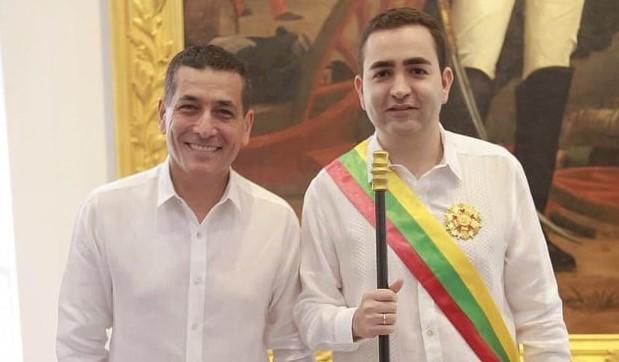 Vicente Antonio Blel Scaff recibió el Bastón de Mando como nuevo gobernador de Bolívar.