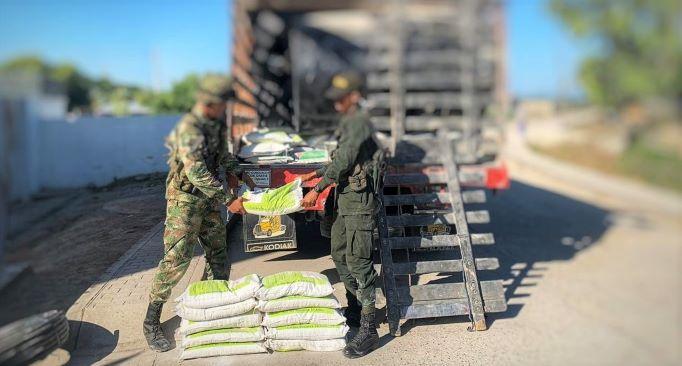 Autoridades incautaron insumos para el procesamiento de coca en el sur de Bolívar.