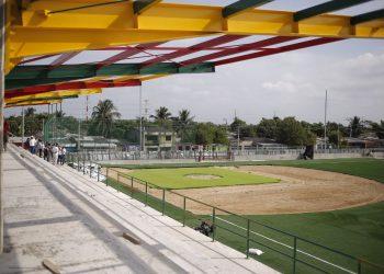 Complejo deportivo del barrio la Candelaria avanza en un 90%