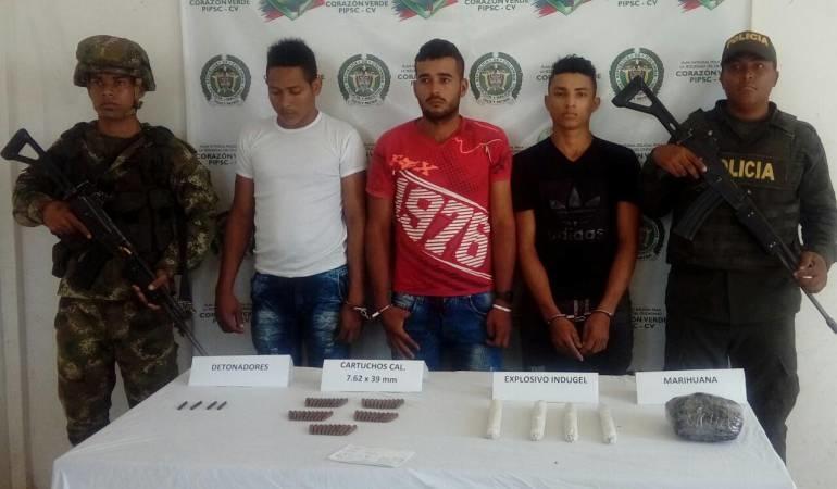 Capturan tres presuntos integrantes del ELN en el sur de Bolívar