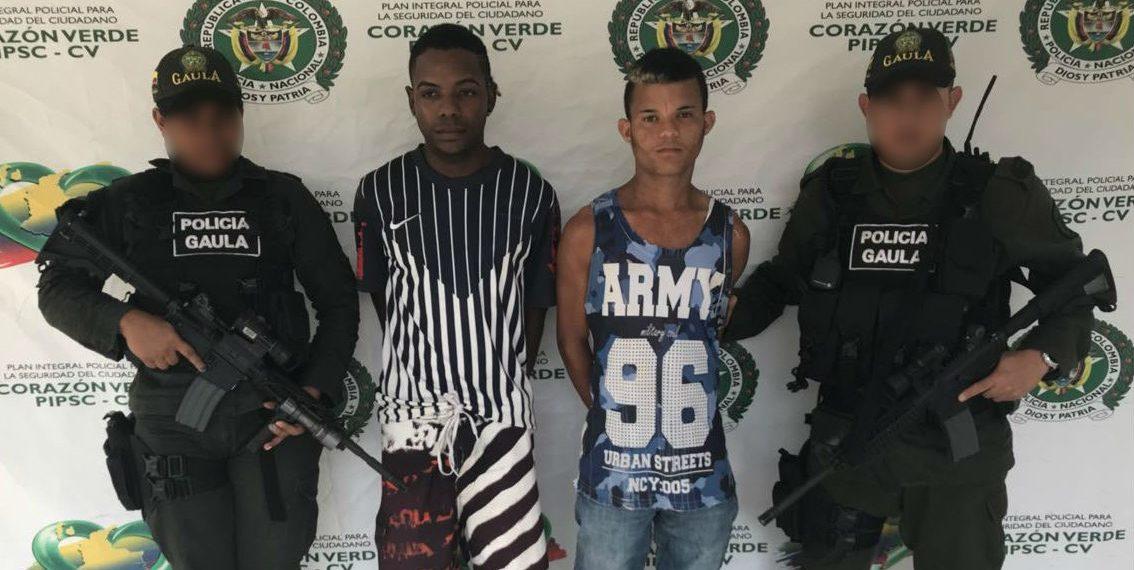 Capturan a dos presuntos extorsionistas en Clemencia Bolívar