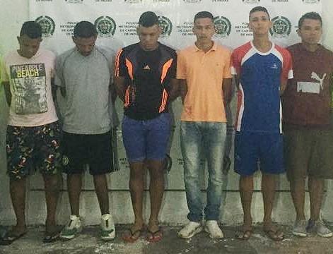 Seis capturas por tráfico local de estupefacientes en Turbaco