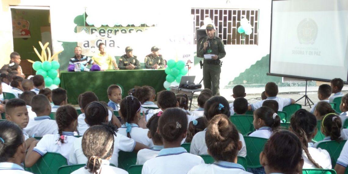Plan especial para protección a los estudiantes en Bolívar adelanta la Policía