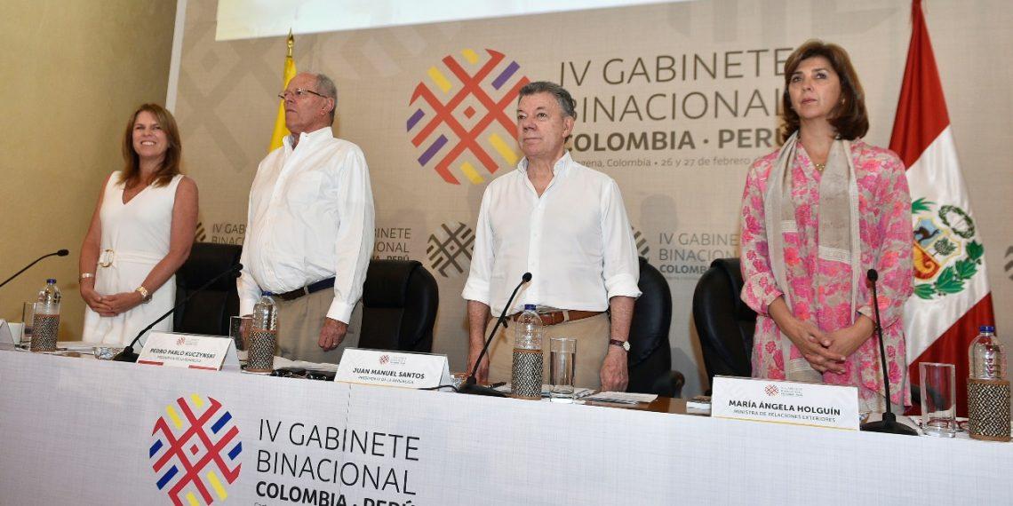 Cuarto Gabinete Binacional Colombia–Perú en Cartagena de Indias