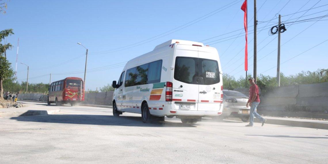 Habilitan la vía Campaña en Cartagena.
