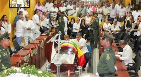 último adiós al tres veces alcalde de Cartagena de Indias.