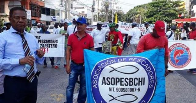 Marchan para pedir inclusión en el censo del proyecto de protección costera.