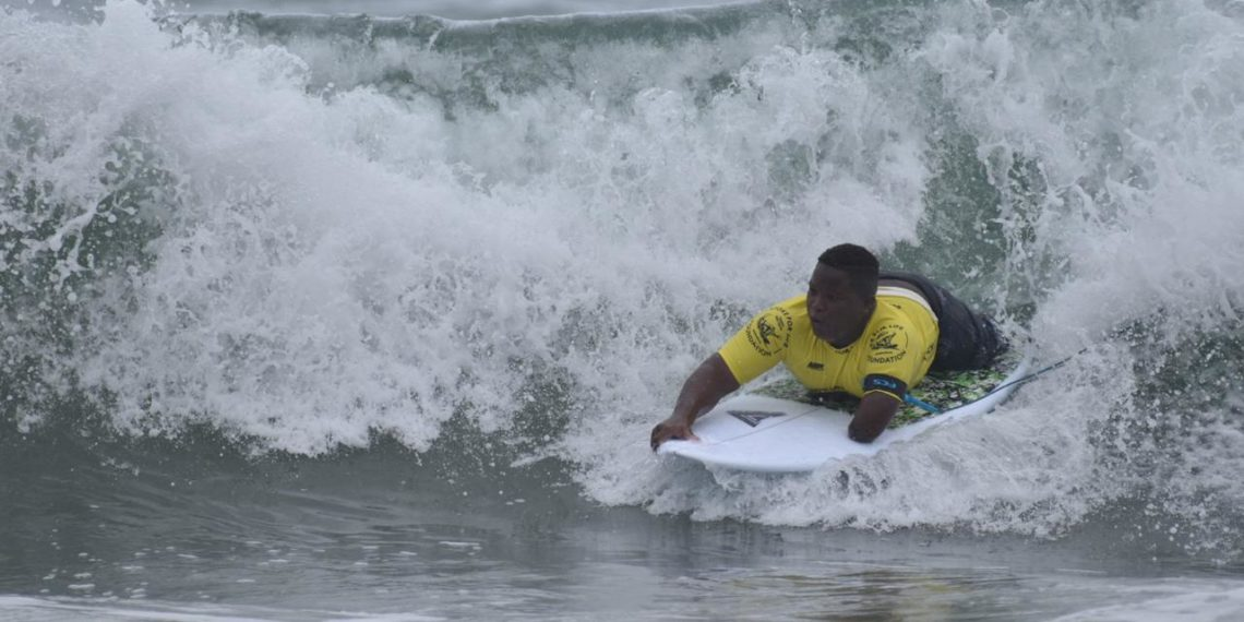 Freddy Marimón se proclamó nuevamente campeón del Us Open de Surf Adaptado.