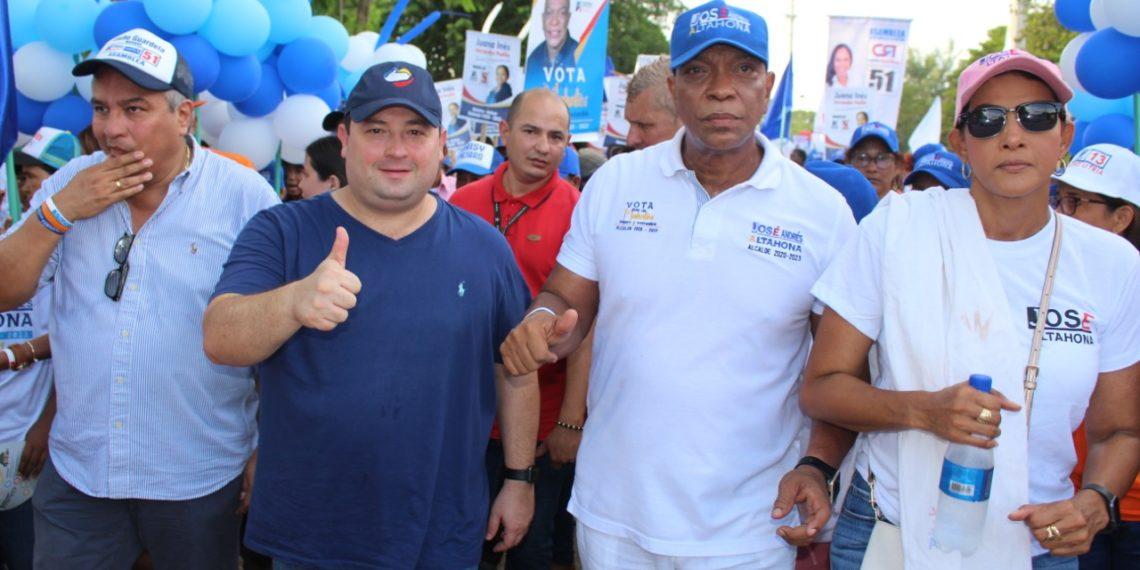 José Altahona realiza primer acto de cierre de campaña en Mahates.