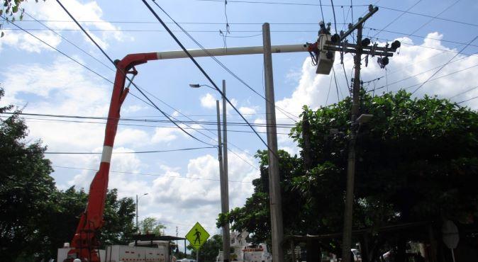 Varios sectores de Cartagena sin energía eléctrica por parada técnica de Electricaribe.