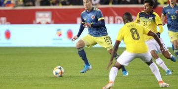 Con un gol de Matheus Uribe, la selección Colombia venció al equipo ecuatoriano.