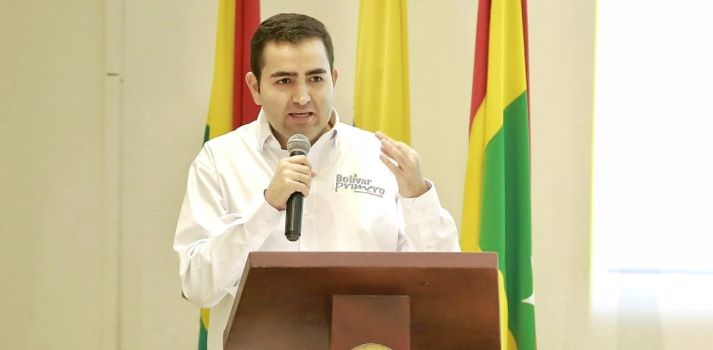 Vicente Blel se posesionará ante la Asamblea de Bolívar.