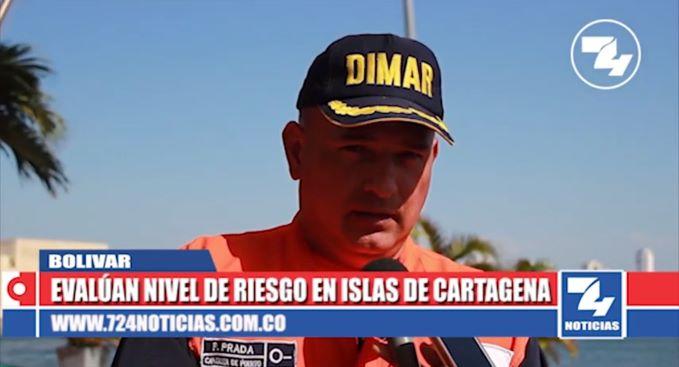 Evalúan nivel de riesgo en islas de Cartagena