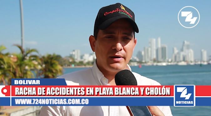 Continúa racha de accidentes en zona insular de Cartagena.