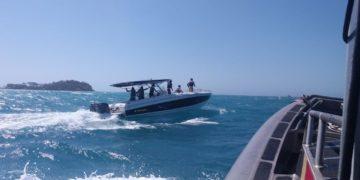 Guardacostas continúan la búsqueda de un turista desaparecido en aguas de Cartagena.