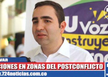 Gobernador de Bolívar anuncia acciones en zonas del postconflicto.