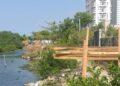 Ecobloque frustra ocupación indebida en las orillas de la Laguna del Cabrero.
