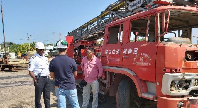 Una máquina de bomberos de Cartagena se convertirá en arrecife artificial