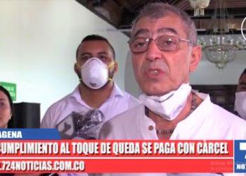 La advertencia que hace el alcalde de Cartagena a quienes incumplan medidas frente al Covid -19