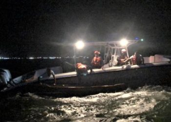Armada de Colombia rescata cuatro pescadores en aguas de Cartagena.