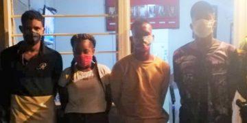 Tres hombres y una mujer capturados con marihuana cerca de Barú