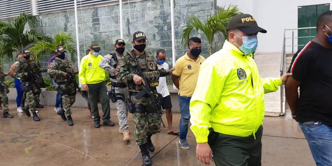 Caen 16 presuntos integrantes del Clan del Golfo en Cartagena y Sucre