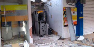 Utilizando explosivos roban cajero automático en Turbaco, Bolívar