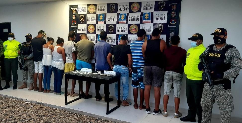Capturan 10 presuntos integrantes del Clan del Golfo en Bolívar
