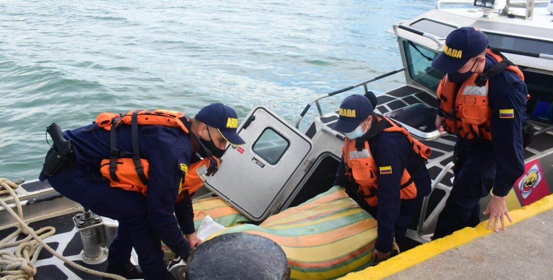 Incautan cocaína y marihuana en aguas del mar caribe