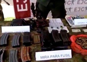 Incautan armamento, munición y explosivos en el sur de Bolívar