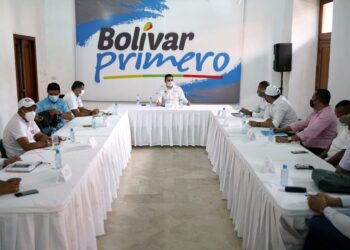 Gobernador y alcaldes del sur de Bolívar revisan proyectos para el desarrollo de esa zona